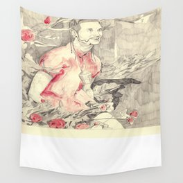 RiFF RAFF with ReD ROSeS Wall Tapestry