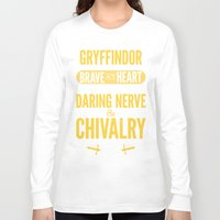 gryffindor Long Sleeve T-shirts featuring Gryffindor by Dorothy Leigh