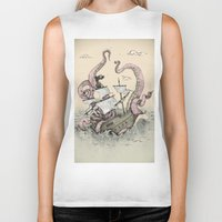 kraken Biker Tanks featuring Kraken by Stephanie Dominguez Art Shop