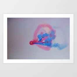 Red Arrows knot Art Print