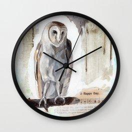 O Happy day - Owl Wall Clock