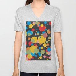 Polka Dots - Graphic Art Unisex V-Neck