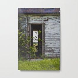 Unusual Abandoned Building, Burleigh County, ND 7 Metal Print