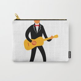 Guitarist in Tuxedo Playing Guitar Retro Carry-All Pouch
