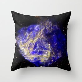 1866. Stellar Shrapnel Seen in Aftermath of Explosion - A supernova remnant located in the Large Magellenic Cloud. Throw Pillow