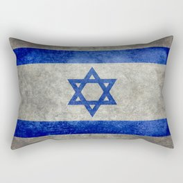 National flag of the State of Israel with distressed worn patina Rectangular Pillow