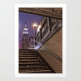 Empire State Subway - New York Photography Art Print