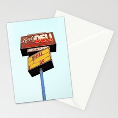 Sandwich shop sign Stationery Cards