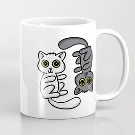 Two Cats, One Print Coffee Mug