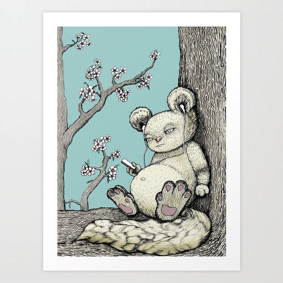 Cuddly Art Print