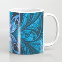 Blue Fractal Coffee Mug