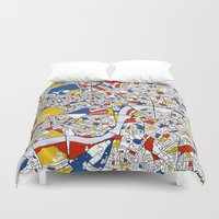 mondrian Duvet Covers featuring London Mondrian by Mondrian Maps
