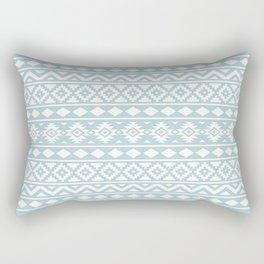 Aztec Essence Ptn III White on Duck Egg Blue Rectangular Pillow