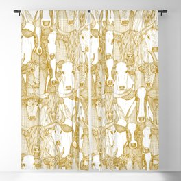 just cattle gold white Blackout Curtain