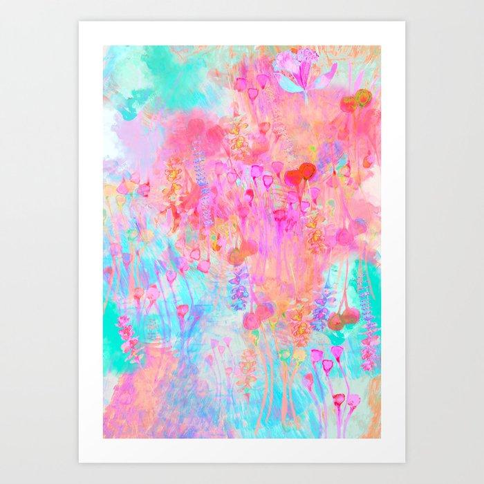 Floral Blush Kunstdrucke