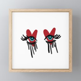 Cryin' Eyes Framed Mini Art Print