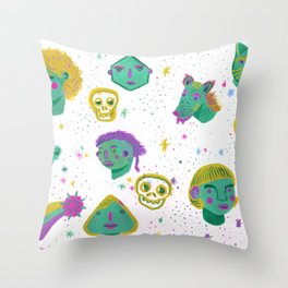Faces in the night sky. Throw Pillow