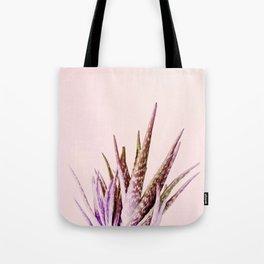 Duotone Aloe Vera on pastel Coral Tote Bag