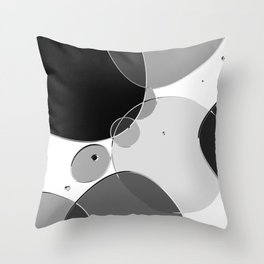 Circle Series - Chrome Throw Pillow