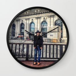 Street Portrait Wall Clock