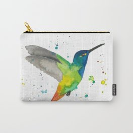 Hummingbird watercolor 2 Carry-All Pouch