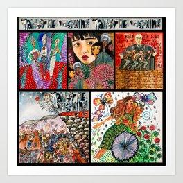 Hadestown Collage Art Print
