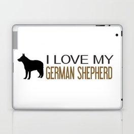 I Love My German Shepherd Laptop & iPad Skin