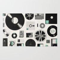 gameboy Area & Throw Rugs featuring Data by Florent Bodart / Speakerine