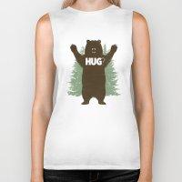 bear Biker Tanks featuring Bear Hug? by Fanboy30