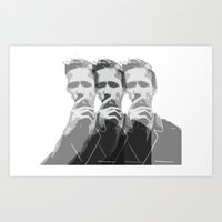 ryan gosling Art Prints featuring Ryan Gosling by Harry Martin