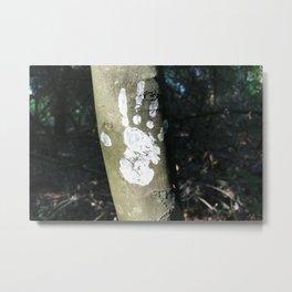 White Handprint Metal Print