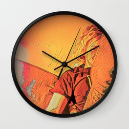inside on rainy evenings with the incandescent bulb plugged in Wall Clock