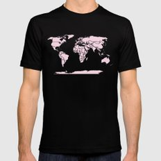Color My World ~ Pink Mens Fitted Tee Black MEDIUM
