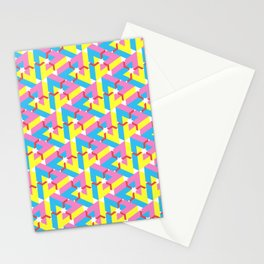 Triangle Optical Illusion CMY + Red Medium Stationery Cards