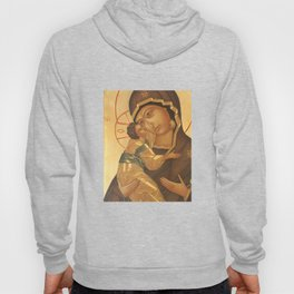Orthodox Icon of Virgin Mary and Baby Jesus Hoody