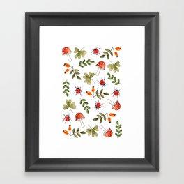Summer pattern 2  Framed Art Print