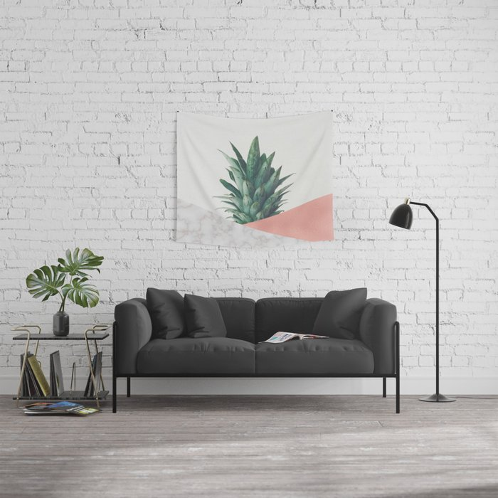 Pineapple Dip VI Wall Tapestry