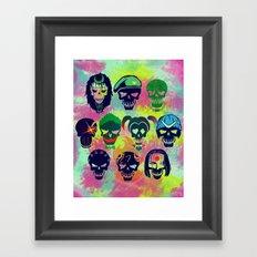 Suicide Skulls Framed Art Print