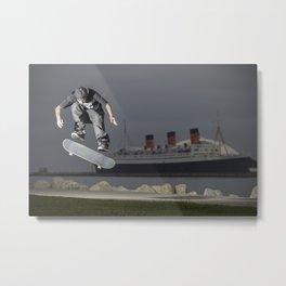 Kurtis Colamonico | Skateboard | Long Beach Queen Mary Ship Metal Print