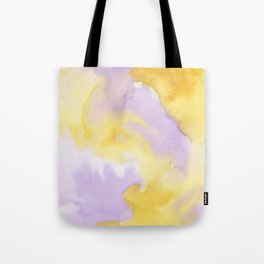 Lilac lavender sunflower yellow abstract watercolor Tote Bag