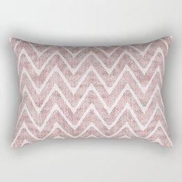 Palest Dusty Pink Zigzag Imitation Suede Chevron Rectangular Pillow