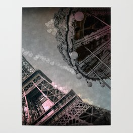 I Dream of Paris Pink Gray Poster