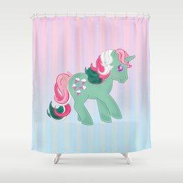 g1 my little pony stylized Fizzy Shower Curtain