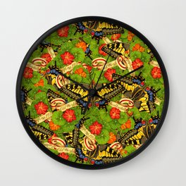 Old World Swallowtail Cacophony Wall Clock