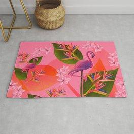 Flamingo Bird of Paradise Rug