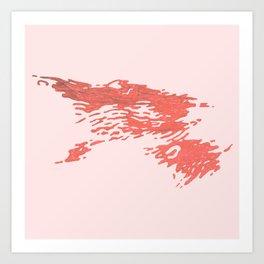 Blood / Wine Spill Art Print