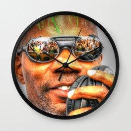 GREEN VELVET - CAMERAS READY..... Wall Clock