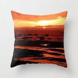 Sunset behind the Circle of Rocks Throw Pillow