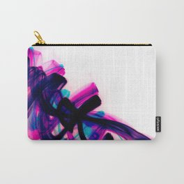Minimal Futuristic Abstract Calligraphy Carry-All Pouch