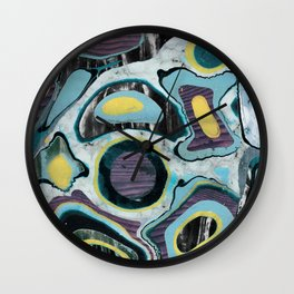 Multicolor textured marble spots Wall Clock